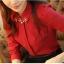 เสื้อแขนยาวแฟชั่นสีแดง เรียบหรู thumbnail 8