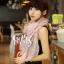 ผ้าพันคอวินเทจ ลาย Porcelian : ผ้าพันคอ Viscose 160 x 80 cm สี Pastel pink thumbnail 5