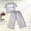 ส่ง:งานจีนเช็ท2ชิ้นแบบเก๋/เสื้ออก40+กางเกงเอวยืดได้22-40 thumbnail 1