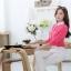เสื้อเชิ้ตผู้หญิงแขนยาว สีชมพู คลิบขาว thumbnail 3