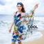ผ้าคลุมชุดว่ายน้ำ ผ้าคลุมชายหาด ผ้าชายทะเล SH787 : ผ้าชีฟอง size 140x80 cm (มีสายคล้องแขน) สำเนา thumbnail 1