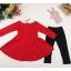 เซต 2 ชิ้น สุดคุ้ม เดรสกระโปรงแดงผ้าเนื้อหนา (ปกเสื้อเป็นหนังเทียม) + เลคกิ้ง (เหมาะสำหรับอากาศค่อนข้างเย็นค่ะ) thumbnail 8