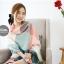 ผ้าพันคอ ผ้าคลุมพัชมีนา Pashmina scarf ลายตาราง size 200x60 cm - สี Light Pink thumbnail 11