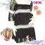 ก๊อปงานChloe' : Magic Dress: DB786 ใหม่! ชุดแซก/เดรสผ้าชีฟองหรูมากเนื้อผ้ามีดิ้น แขนสามส่วนคอสี่เหลี่ยม แต่งลูกไม้ สีดำมีซับใน thumbnail 1