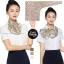 ผ้าพันคอสำเร็จรูป ผ้ายูนิฟอร์ม uniform ผ้าไหมซาติน : L196 thumbnail 1