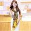 ผ้าพันคอลาย Fairy Tale สีน้ำตาลเหลือง - ผ้า Cotton Twill - size 180 x 90 cm thumbnail 5