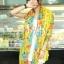 ผ้าพันคอลายดอกไม้ Blossom Bloom : Yellow ผ้า Viscose - size 180x90 cm thumbnail 1