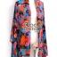 ผ้าพันคอแฟชั่น Retro Graphic : สีน้ำเงิน ผ้าชีฟอง size 150x50 cm thumbnail 11