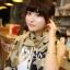 ผ้าพันคอ ผ้าคลุมไหล่ ลายดาว Stars สีน้ำตาล - ผ้าพันคอ Silk Chiffon - size 170*70 cm thumbnail 7