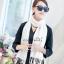 ผ้าพันคอ ผ้าคลุมพัชมีนา Pashmina scarf size 160 x 60 cm - สีขาว thumbnail 4