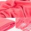 ผ้าพันคอ ผ้าคลุมพัชมีนา Pashmina scarf size 160 x 60 cm - สีชมพูพีช thumbnail 4