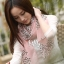 ผ้าพันคอลายโบว์ : Bow print scarf สีชมพู - ผ้าชีฟอง 160 x 45 cm thumbnail 4