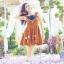 พร้อมส่งสต๊อกร้านเอง FGM dress เดรสกวาง ฮิตสุดๆ ชุดเดรสใส่เปนเอี้ยมก้ได้คร่า เนื้อผ้าลุกฟุกโทนสีน้ำตาลอมส้ม เนื้อผ้าเดียวกับในชอป สีเป้ะม่ายเพี้ยน thumbnail 5