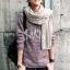 ผ้าพันคอผู้ชาย Man scarf ผ้า cashmere 180x30 cm - สี cream thumbnail 3