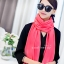 ผ้าพันคอ ผ้าคลุมพัชมีนา Pashmina scarf size 160 x 60 cm - สีชมพูพีช thumbnail 3