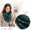 ผ้าพันคอแฟชั่นลายจุด Polka Dot : สี dark green - ผ้าพันคอ Silk Chiffon 160 x 45 cm thumbnail 5