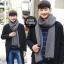 ผ้าพันคอไหมพรมถัก Knit Scarf - size 160x30 cm - สี Dark Gray thumbnail 7