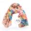 ผ้าพันคอลายดอกไม้ Blossom Bloom : Light Pink ผ้า Viscose size 180x90 cm thumbnail 7