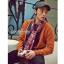 ผ้าพันคอลายกวาง Deer Scarf : สีแดง ผ้า viscose size 180x80 cm thumbnail 5