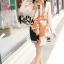 ผ้าพันคอแฟชั่นลายโซ่ Chiffon Coach : สีส้ม : ผ้าพันคอ Silk Chiffon - size 160x60 cm thumbnail 7