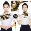 ผ้าพันคอสำเร็จรูป ผ้ายูนิฟอร์ม uniform ผ้าไหมซาติน : L121 thumbnail 1