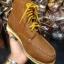 รองเท้าผู้ชาย | รองเท้าแฟชั่นชาย Tan Boots หนังชามัวร์ (หนังลูกวัวแท้) thumbnail 3