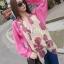 ผ้าพันคอลายโบว์ : Bow print scarf สีครีม - ผ้าชีฟอง 160 x 45 cm thumbnail 4