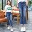 กางเกงยีนส์ยืด ใส่สบาย ปลายขาแต่งรุ่ยสไตล์เวสเทิร์น (XL,2XL,3XL,4XL,5XL) ZX1096