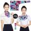 ผ้าพันคอสำเร็จรูป ผ้ายูนิฟอร์ม uniform ผ้าไหมซาติน : L90 thumbnail 1