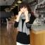 ผ้าพันคอไหมพรม ผ้า cashmere scarf 180x30 cm - สี light Grey thumbnail 7