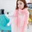 ผ้าพันคอลายดอกซากุระ Sakura : White Pink ผ้า Viscose size 160x80 cm thumbnail 1