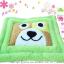 พรมเช็ดเท้าแฟนซี-Size L-หมาหน้าเหลี่ยม-เขียว thumbnail 1