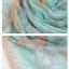 ผ้าพันคอลายวินเทจ Vintage : ผ้าพันคอ Viscose - size 170x70 cm สีชมพูเขียว thumbnail 4