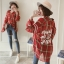 เสื้อเชิ้ตลายสก๊อตสีแดงแขนยาว (XL,2XL,3XL,4XL) X016#
