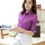 เสื้อผู้หญิงสีม่วงแฟชั่นแขนยาว เรียบหรู thumbnail 2