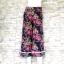 ส่ง:กางเกงขาบานใส่สบายผ้าสวยเนื้อนิ่มแต่งเส้นแถบ2ข้าง/เอวยืด27-40 thumbnail 1