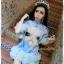 สีชมพู สีฟ้า ฟรุ้งฟริ้งผ้ายืดเนื้อดี [พร้อมส่ง] (ฟรีไซส์สาวอวบใส่ได้) ATA385 ใหม่! มินิเดรส/เสื้อยืดพิมพ์หน้าแมว แขนฟรุ้งฟริ้ง ชายฟรุ้งฟริ้งสุดฮิตแบบดารา #477 thumbnail 3