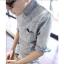 เสื้อผ้าผู้ชาย | เสื้อเชิ้ตผู้ชาย เสื้อเชิ้ตแฟชั่นชาย แขนข้อศอก แฟชั่นเกาหลี thumbnail 1