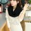 ผ้าพันคอไหมพรม ผ้า cashmere scarf size 180x30 cm - สี Black thumbnail 6