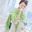 ผ้าพันคอ ผ้าคลุมพัชมีนา Pashmina scarf size 160 x 60 cm - สีเขียว thumbnail 2