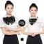 ผ้าพันคอสำเร็จรูป ผ้าไหมซาติน : solid black สีดำ สีพื้น thumbnail 1