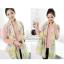 ผ้าพันคอวินเทจ Pastel scarf สีเหลืองม่วง - ผ้าพันคอ Viscose - size 180x110 cm thumbnail 5