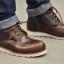 รองเท้าผู้ชาย | รองเท้าแฟชั่นชาย Cherry Boots หนัง Oiled Pull Up thumbnail 2
