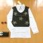 ขายส่ง:เสื้อ2ชั้นหลอกเสมือนสวมกั๊กทับเชิ้ตไว้เก๋ๆแต่งปักหมุดดาว/อก37 thumbnail 1