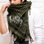 ผ้าพันคอชีมัค Shemash : สีเขียว size 100 x 100 cm thumbnail 4