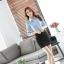 เสื้อเชิ้ตทำงานผู้หญิงแขนยาว สีฟ้า ปกสีขาว เป็นชุดยูนิฟอร์มได้ thumbnail 13
