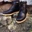 รองเท้าผู้ชาย | รองเท้าแฟชั่นชาย Black Boots หนัง Oiled Pull Up กันน้ำ กันหิมะ กันรอยขูดขีดได้จริง thumbnail 1