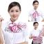 ผ้าพันคอสำเร็จรูป ผ้ายูนิฟอร์ม uniform ผ้าไหมซาติน : L226 thumbnail 3