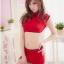 ชุดกี่เพ้าเซ็กซี่สีแดงเอวลอยงานสวยมาก thumbnail 3