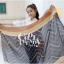 ผ้าพันคอลายทาง Strip Zigzag scarf : ผ้าพันคอ Viscose - size 160x75 cm - สีน้ำเงิน thumbnail 3